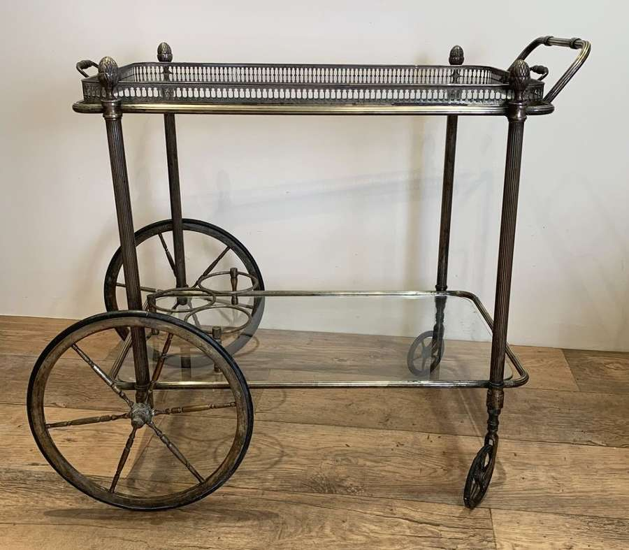 MAISON BAGUES BRASS DRINKS TROLLEY