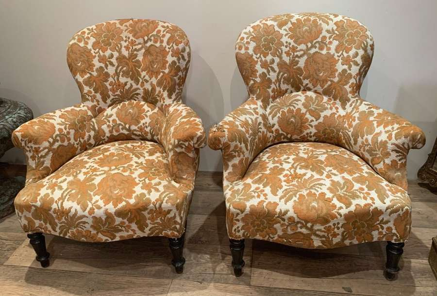 FRENCH NAPOLEON III ARMCHAIRS
