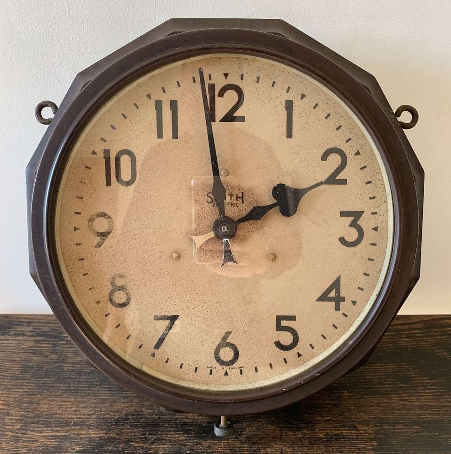 DOUBLE SIDED SMITH ELECTRIC CLOCK