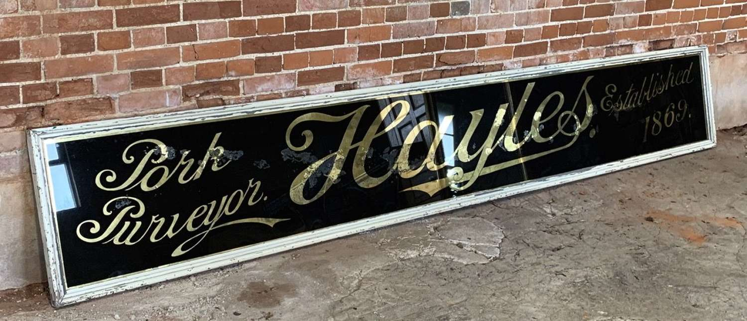 LARGE VICTORIAN GLASS SHOP SIGN