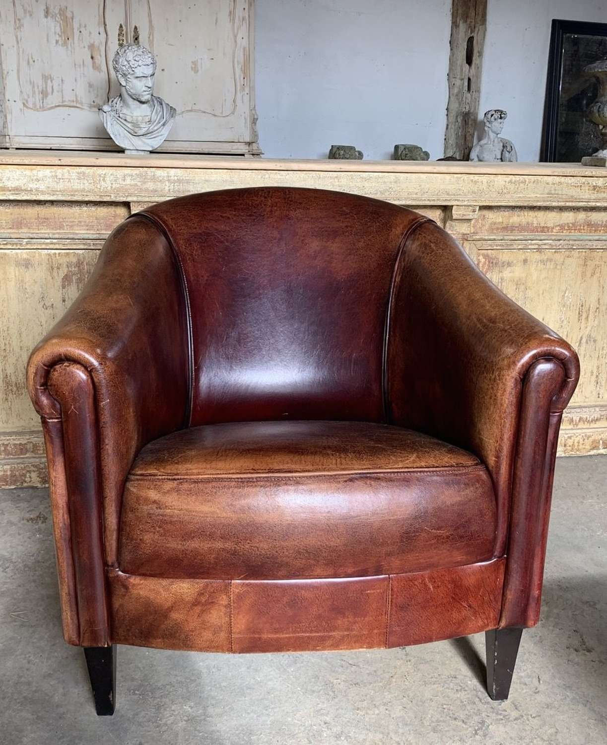 DUTCH LEATHER ARMCHAIR