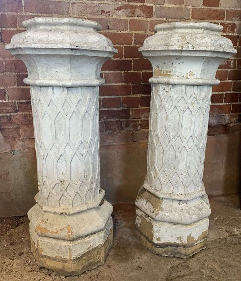 PAIR OF DOULTON CHIMNEY POTS