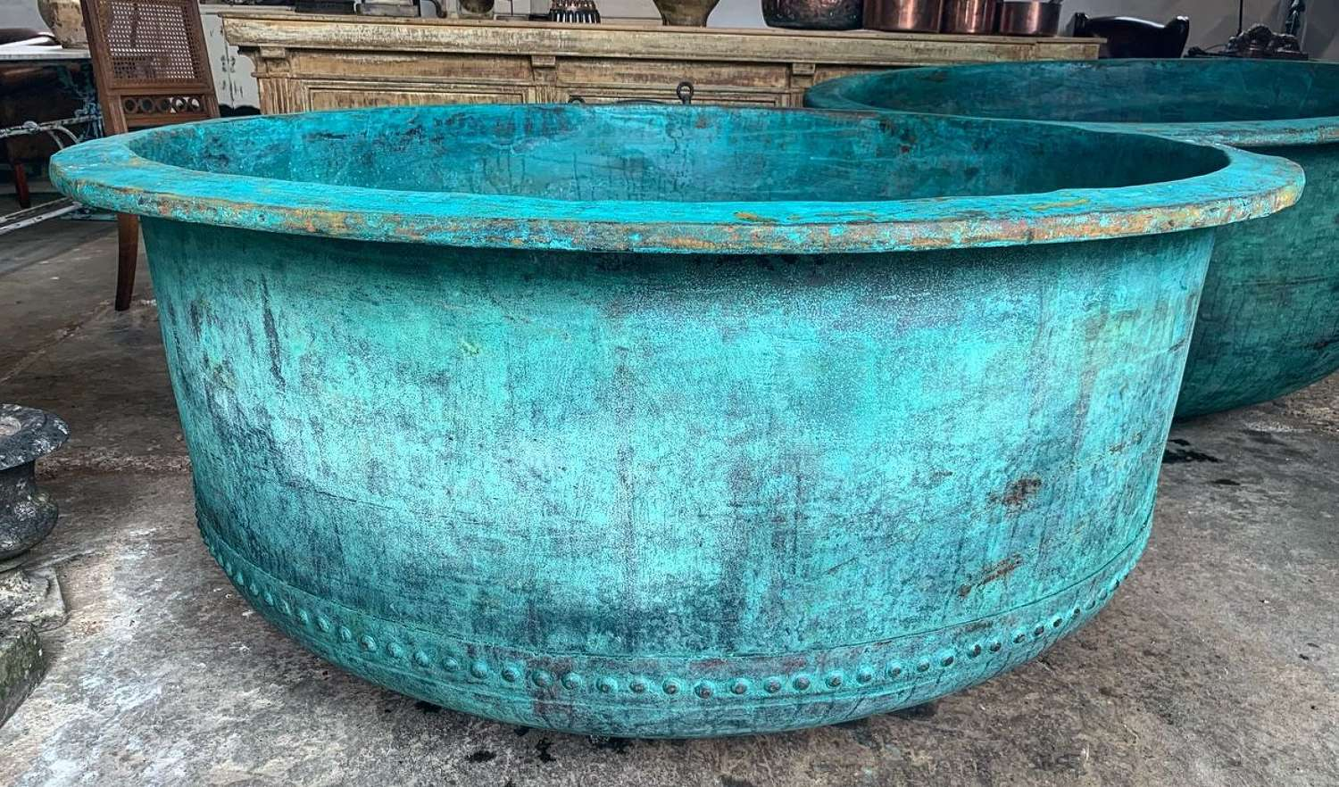 LARGE 19TH CENTURY COPPER CHEESE VAT