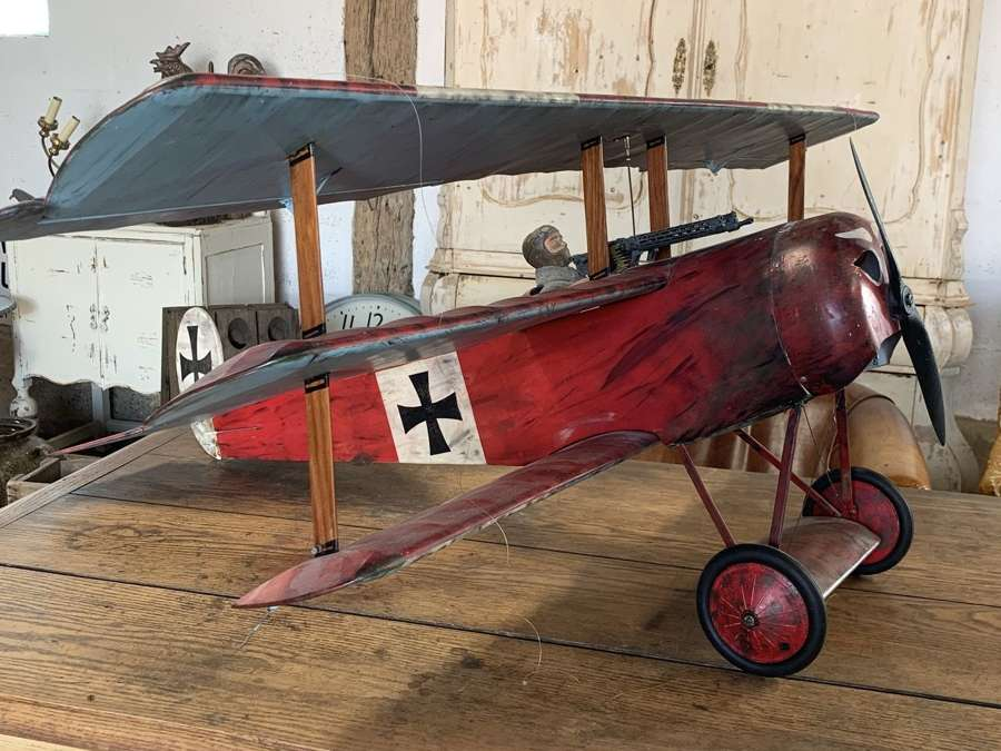 SCRATCH BUILT RED BARON'S TRIPLANE