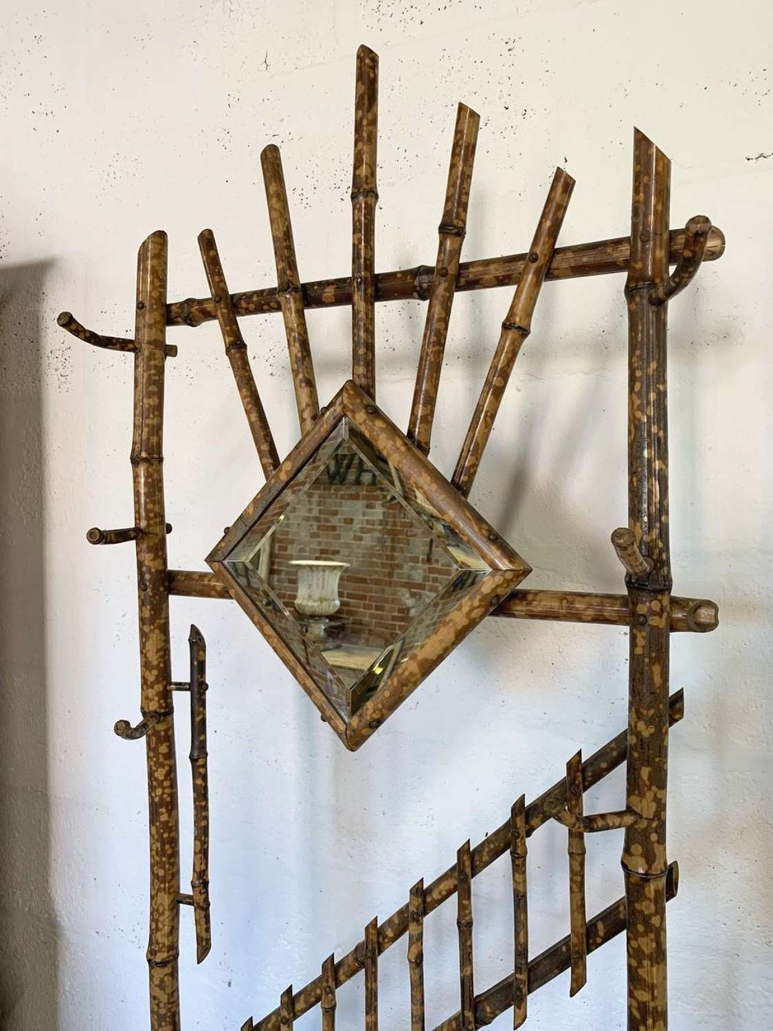 ANTIQUE BAMBOO HALL COAT STAND