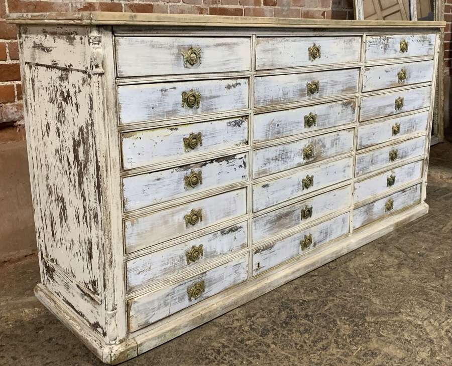 BANK OF DRAWERS