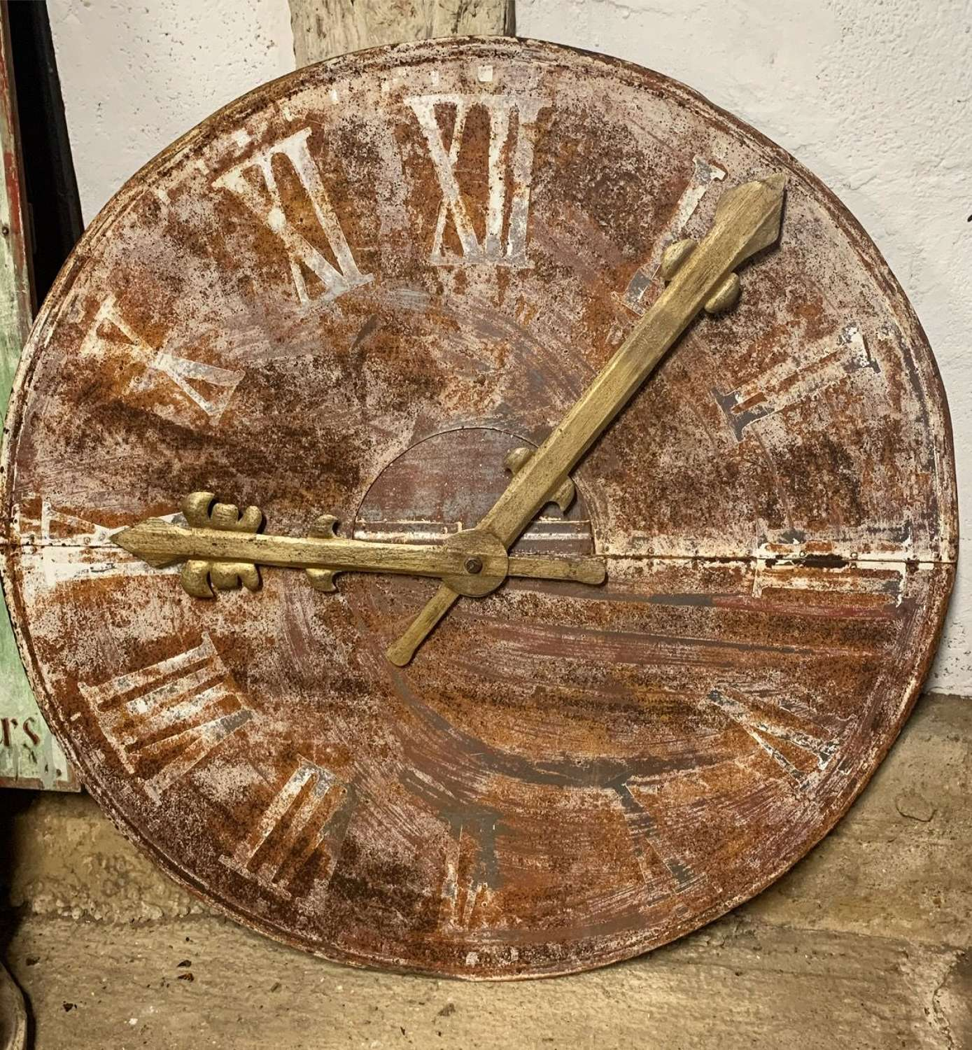 LARGE PAINTED TOWER CLOCK FACE