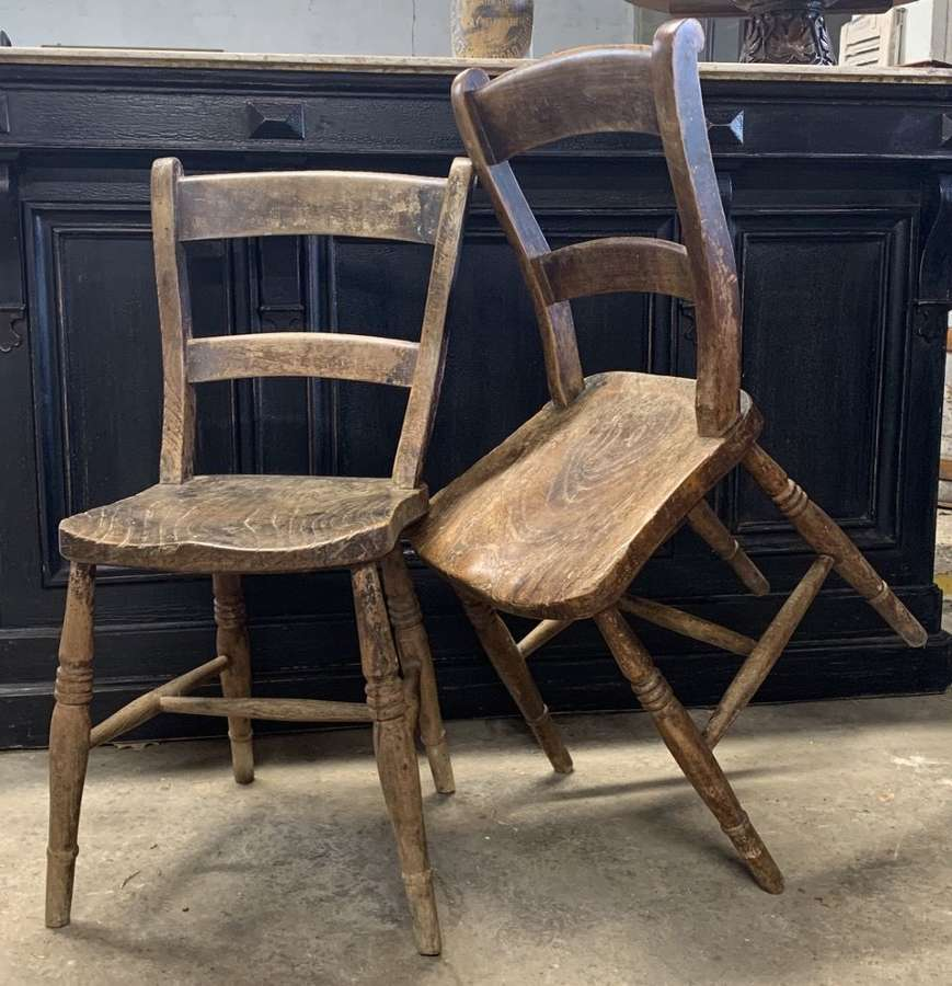 PAIR OF VICTORIAN CHILDRENS OXFORD CHAIRS