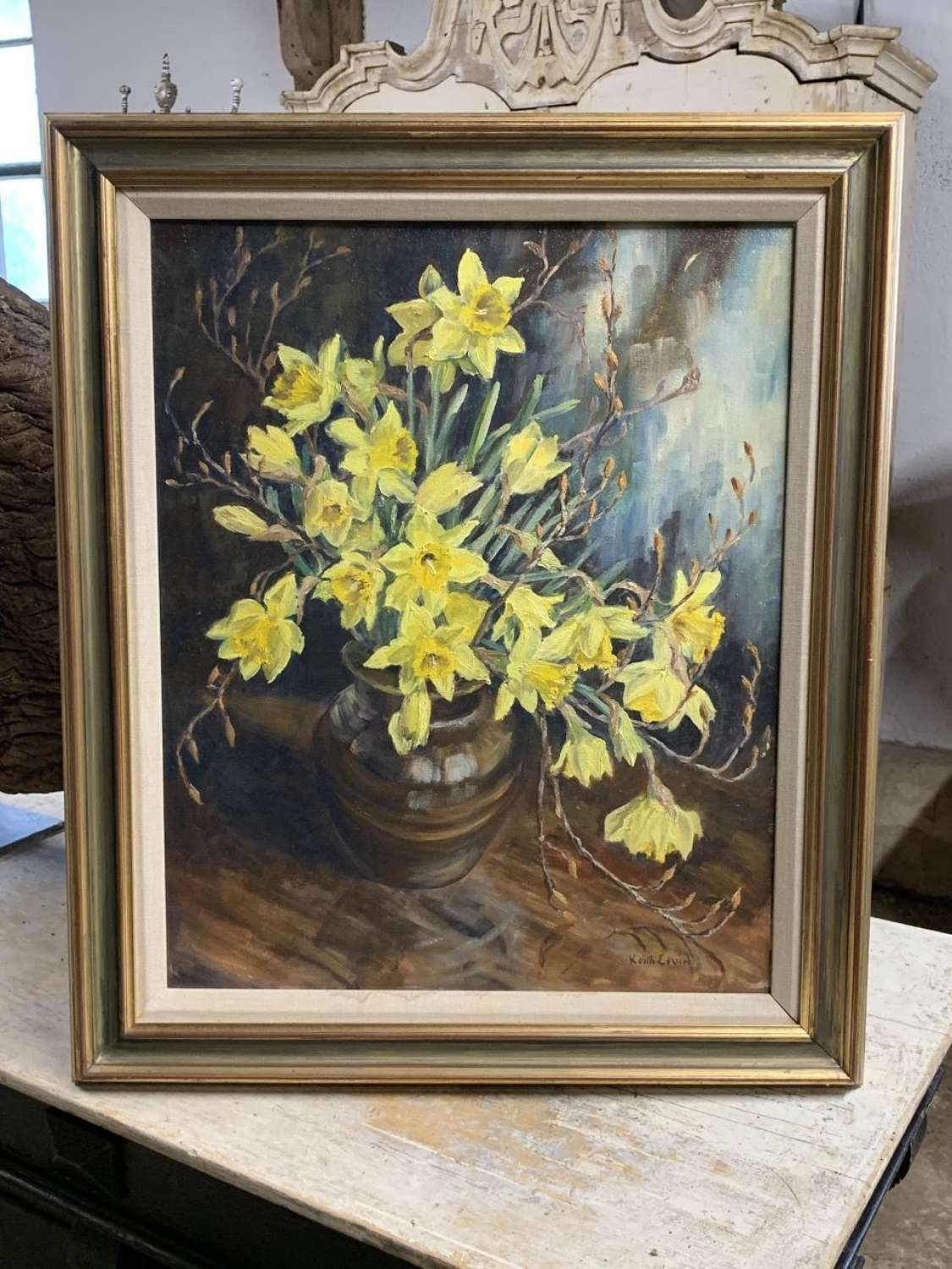 DAFFODILS OIL ON CANVAS
