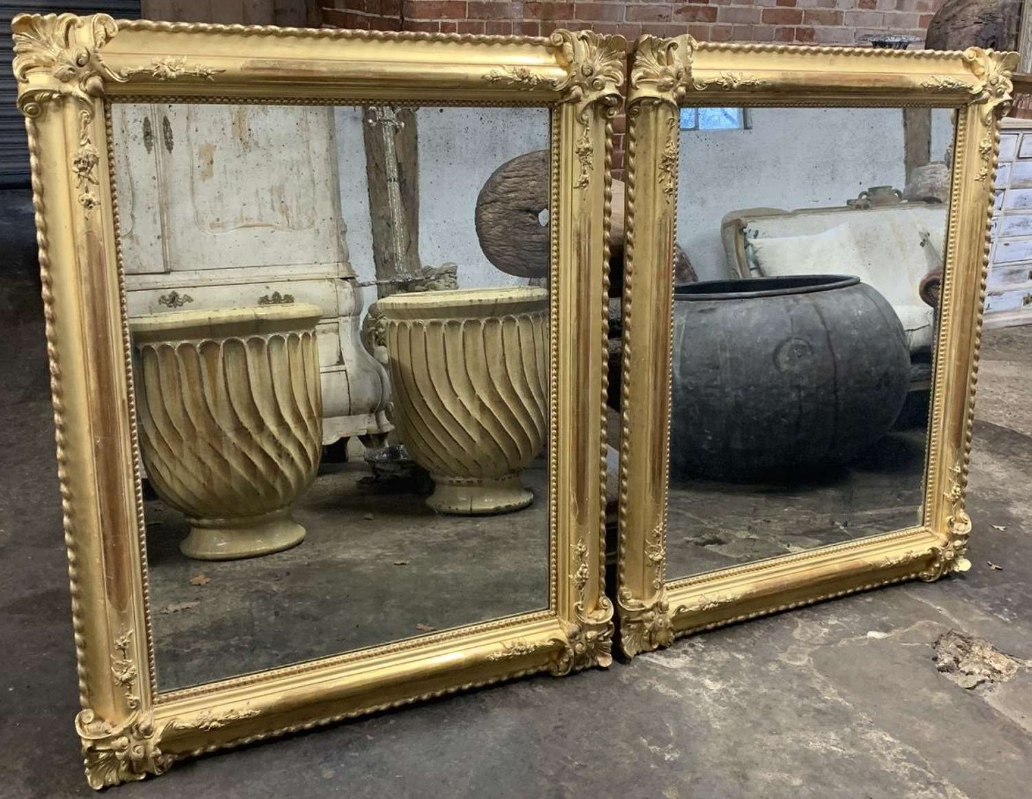QUALITY PAIR OF 19TH CENTURY GILT MIRRORS