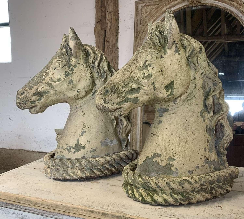 PAIR OF MID CENTURY HORSE HEADS