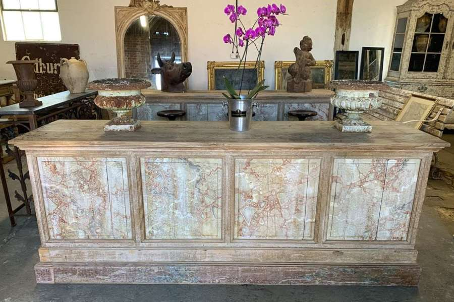 PAIR OF ANTIQUE SHOP COUNTERS
