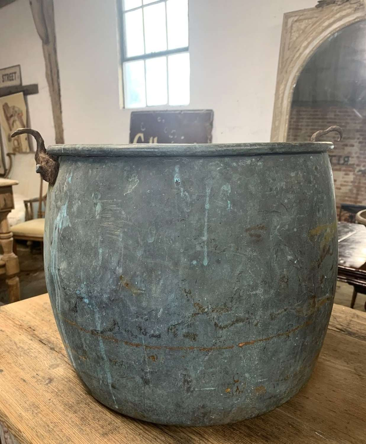 19TH CENTURY VERDIGRIS COPPER