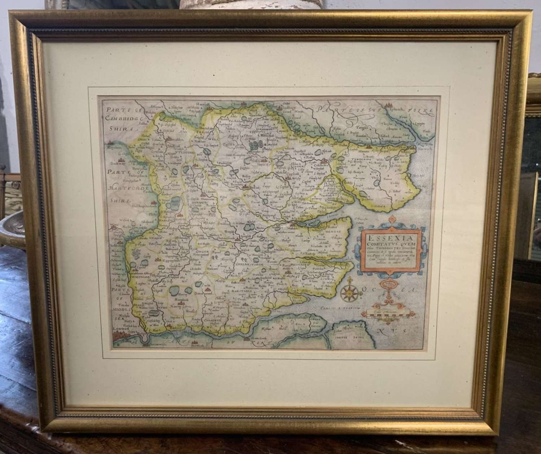 1610 SAXTON KIP MAP OF ESSEX