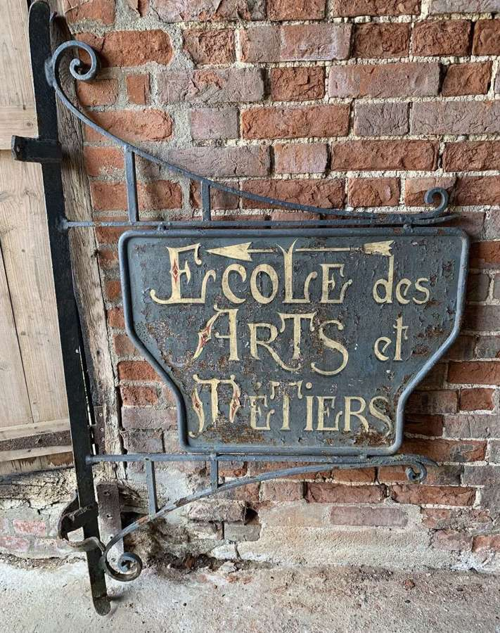 FRENCH WROUGHT IRON DOUBLE SIDED TRADE SIGN