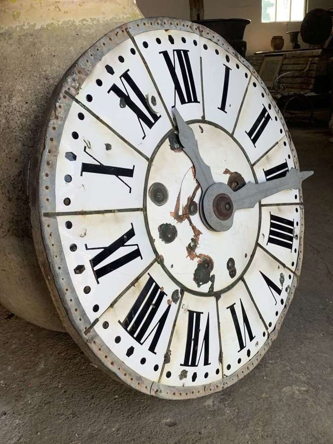 FRENCH ENAMEL TOWER CLOCK FACE
