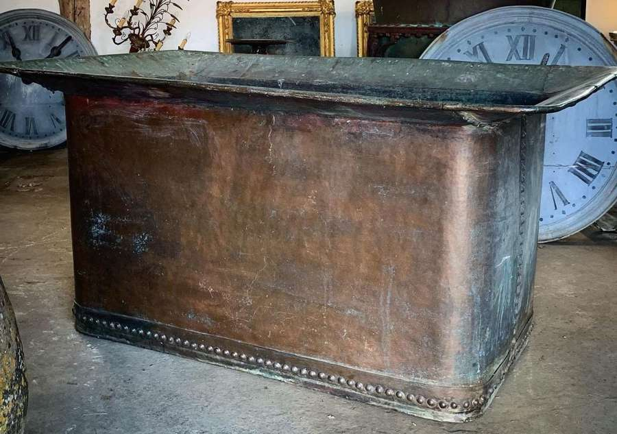 HUGE 19TH CENTURY RIVETED COPPER TANK