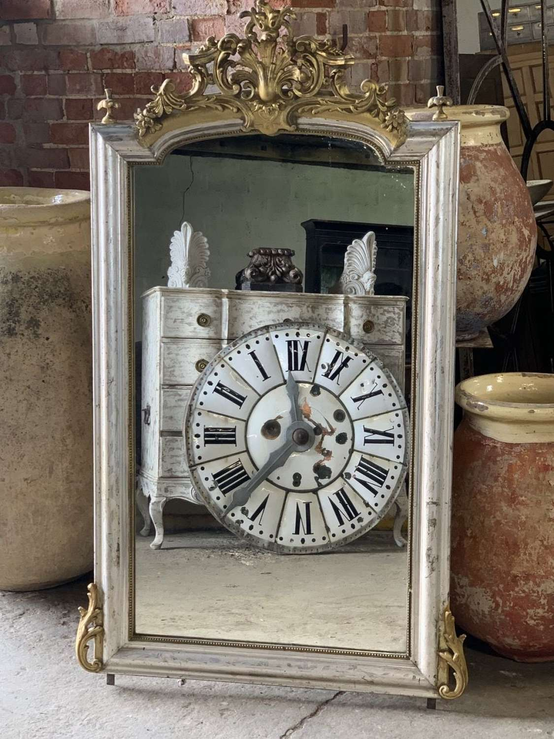 19TH CENTURY FRENCH SILVER MIRROR